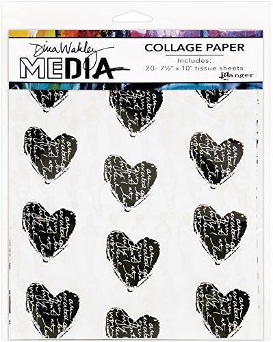 Ranger MDA61076 Dina Wakley Media Lot de collages, Papier, Multicolore, 29,2 x 20,2 x 0,1 cm