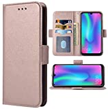 Phone Case for Huawei P Smart 2019 / Honor 10 Lite Folio Flip Wallet Case,PU Leather Credit Card Holder Slots Full Body Protection Kickstand Phone Cover for Huwai PSmart Honor10Lite 10Lite Rose Gold