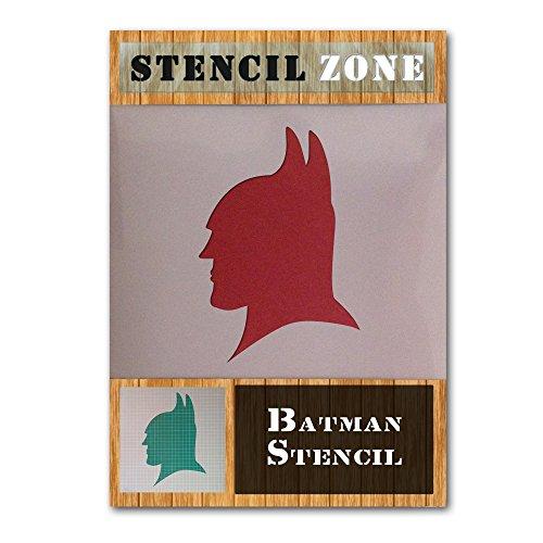 Batman Charakter Gesichtsmaske Mylar Airbrush Malerei Wand-Kunst-Handwerk-Schablone 6 (A6 Größe Stencil - XXSmall)