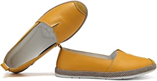 KISFLY Womens Loafer Soft Leather Driving&Walking Shoes Slip-ons Moccasin Flats