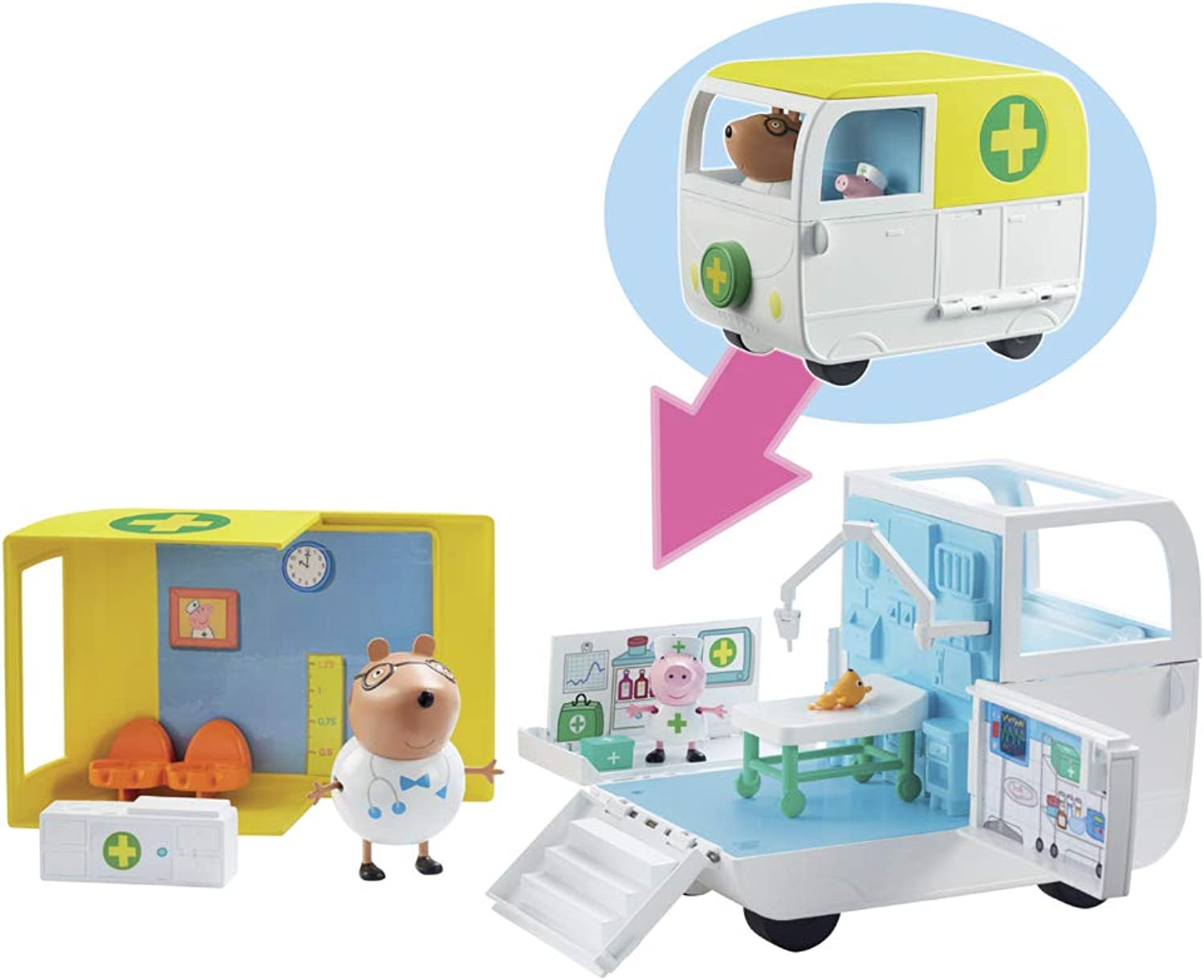 Peppa Pig Medical Mobile Centre Playset with Dr Brown Bear Figure