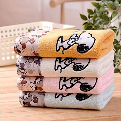 Temiuebsd Handtuch + Badetuch 2Er Set Snoopy Cartoon Großes Handtuch Badetuch Superweich Und Hochsaugfähig Blau 70 * 140Cm