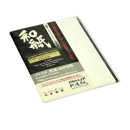Awagami Premio Unryu Inkjet Postkarten, 165 g/m², 3,9 x 5,7, 30 Blatt 10 Blatt 3.9 x 5.7
