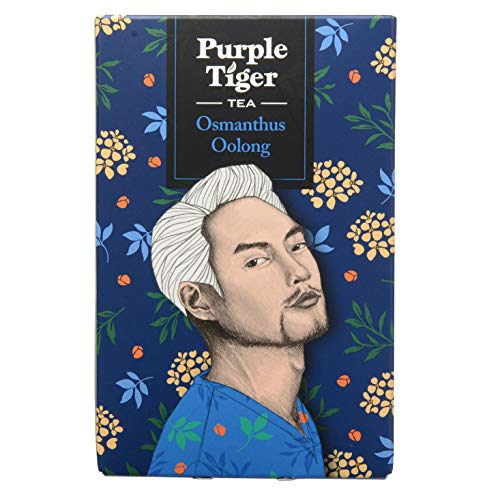 Purple Tiger Osmanthus Oolong Tea - Taiwanese Oolong Tea with Osmanthus - Award Winner in UK - Flavoured Oolong Tea - 10 Pyramid Tea Bags