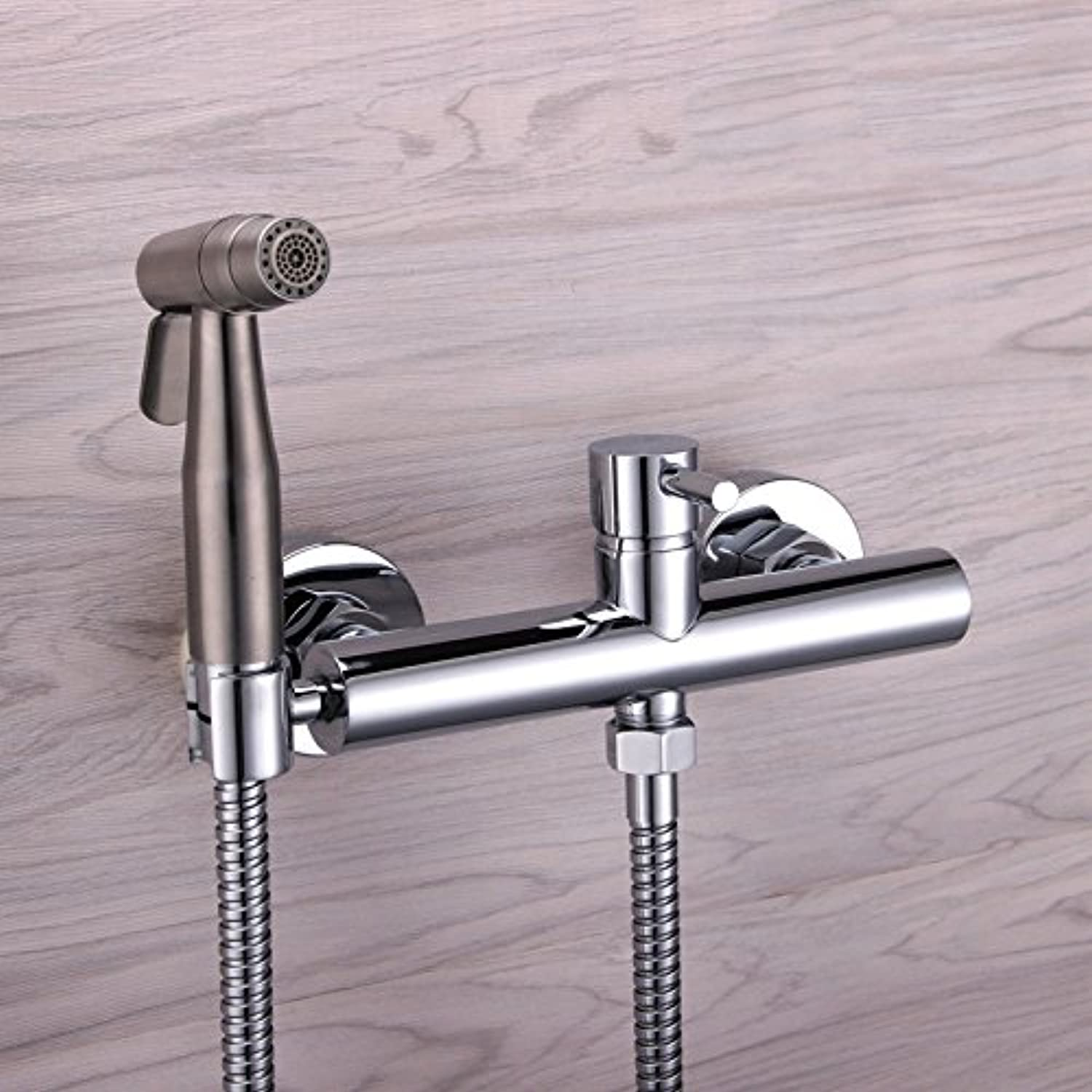 GFEI 304 stainless steel dual mode toilet flush head washer   all copper hot and cold faucet kitchen cleaning gun set