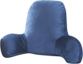 Plush Big Backrest Reading Pillow, Rest Pillow Lumbar Support Chair Cushion with Arms - Perfect for Teens, and Kids