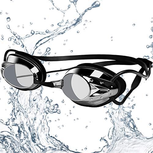 Gafas de natación, gafas de natación antivaho, gafas de natación para hombre y mujer, gafas de natación, gafas de natación para adultos, protección UV, correa ajustable