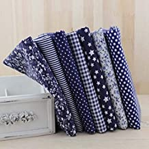 Cell's world - 7pcs Navy Blue Fat Quarters Cotton Quilting Fabric for DIY Sewing Patchwork Bags Tilda Doll Cloth Textiles Fabric 50cmx50cm