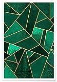 """Juniqe® Abstrakt & Geometrisch Poster 40x60cm - Design """"Emerald and Copper"""" entworfen von Elisabeth Fredriksson"""
