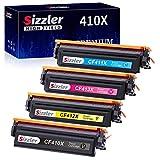 S-Sizzler Multipack 410X Toner Kompatibel für HP 410X 410A CF410X CF410A Toner für HP Color Laserjet Pro MFP M477fdw M377dw M477fdn M477fnw M452dn M452nw M452dw M477 M452 M377 (4-Pack)