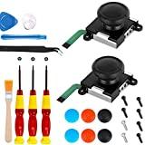 24 pcs 3D Replacement Joystick Analog Thumb Stick for Nintendo Switch Joy-Con Controller - Include Tri-Wing &...