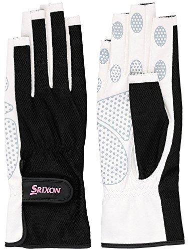 SRIXON(スリクソン) テニス レディース用 シリコンプリント グローブ ネイルスルータイプ (両手セット) SGG2570 ブラック Mサイズ