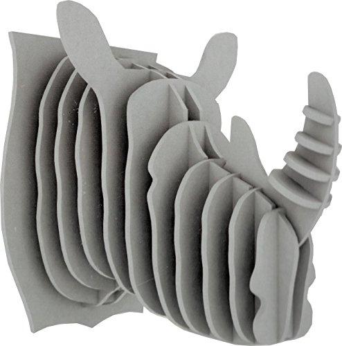 Puzzle 3D Design Trophée Rhino Gris