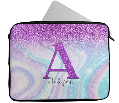 Personalised Any Name Glitter Design Laptop Case Sleeve Tablet Bag Chromebook Gift 8 (14-15 inch)