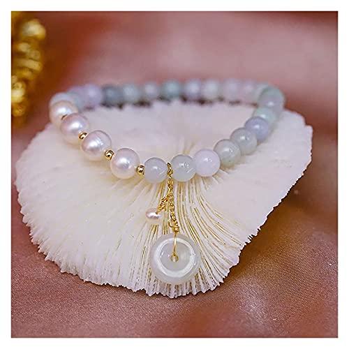 Feng shui riqueza pulsera hetiana nefrita jade brazalete de agua dulce perla antigua moneda afortunado encanto armonía hebilla talismán curación chakra cristal pulsera de cristal para prosperidad dine