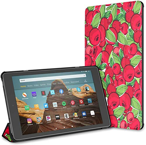 Estuche para Tableta Cranberry Fire HD 10 de Moda de Color Rojo Brillante(novena/séptima generación,versión 2019/2017) Estuche para Tableta HD Fire 10 Estuche para Tableta Fire Cubierta