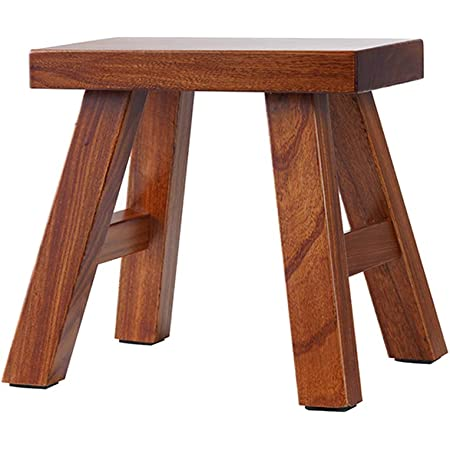 NaughtyKid Wooden Stool,Solid Pine Step Stool,No Assembly Required,Handmade Wood Stool for Child,Bedroom,Living Room,Bathroom,Laundry Room or Garden