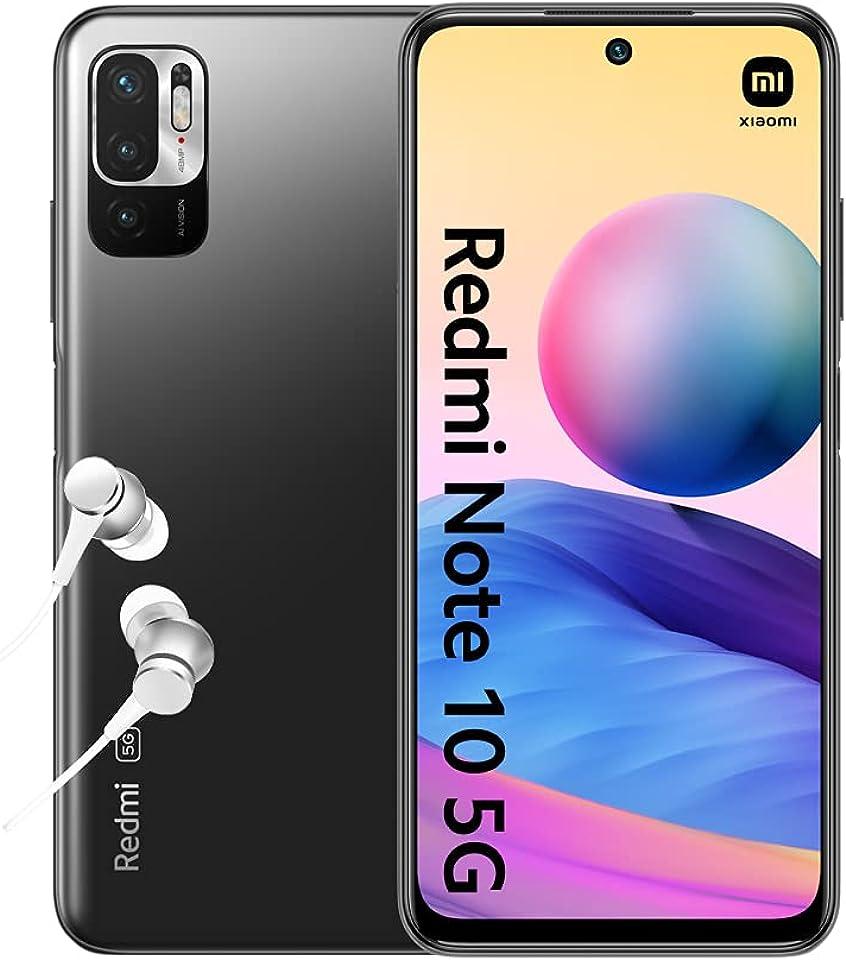 "Xiaomi Redmi Note 10 5G Smartphone + Kopfhörer (16,51cm (6,5"") FHD+ Display, 128GB Speicher, 4GB RAM, 48MP Triple-Rückkamera, 8MP Frontkamera, Dual SIM, Android 11) Grau - [Exklusiv bei Amazon]"