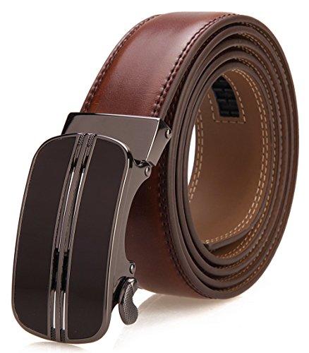 Aofocy Cintur/ón para hombres Cintur/ón de cuero PU Cintur/ón de negocios Cintur/ón de caballero informal con hebilla autom/ática como regalo para sus amigos y familiares