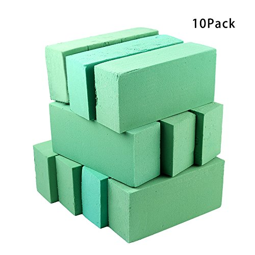 SUREH 10 Stück Premium Floral Foam Bricks Florist Flower Green Styropor Foam Blocks für Frische Blumen Displays und Arrangements Supplies 22,8 x 10,2 x 6,6 Zoll