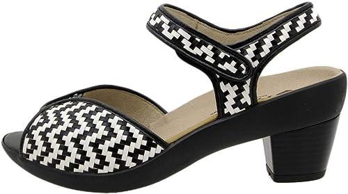 Zapato Cómodo damen Sandalia Plantilla Extraíble 190443 PieSanto