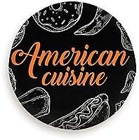 アメリカの伝統的な食べ物、グルメの手と飲み物のスケッチ、スタイリッシュなユニバーサルスペアタイヤセット(14、15、16、17インチ)
