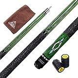 CUESOUL 57 2-Piece Hardwood Canadian Pool Cue Billiard Stick with Irish Wrap 21oz (CSPC016)