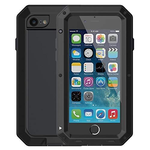 Funda para iPhone 6/6S, Mangix Gorilla de aleación de Aluminio de Vidrio Protector de Metal a Prueba de Golpes, Militar, Protector de Pantalla para Apple iPhone 6/6S de 4,7 Pulgadas