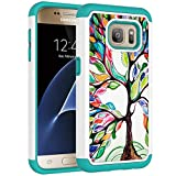 Vavies Case for Galaxy S7, Galaxy S7 Phone Case for Girls Women, Shock Absorption Dual Layer Heavy Duty Protective Cover Rugged Cases for Samsung Galaxy S7 (Love Tree)