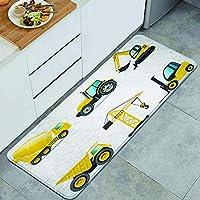 GUVICINIR キッチンマット 洗える 45*120cm 建築機械ベラシリーズ キッチンマット 滑り止め 柔らかく おしゃれ 台所 マット お手入れ簡単