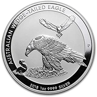wedge tailed eagle silver coin