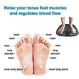 Ankep EMS Fußmassagegerät, Klappbare Fußmatte Einstellbar 6 Vibrationsmodi 10 Frequenz, Pad Füße Muskelstimulator Fußmassagematte Verbessern die Durchblutung, Schmerzlinderung - 7