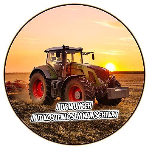 Tortenaufleger Geburtstag Tortenbild Zuckerbild Oblate Motiv: Traktor Trekker (Fondantpapier, ohne Ausschneideservice)