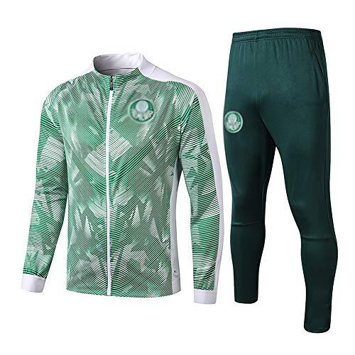 L-YIN Traje entrenamiento de fútbol Club de adulto Camiseta de la Juventud de manga larga y pantalones de jogging BreathableTop QL0049 Traje Chándales (Color : Green, Size : S)