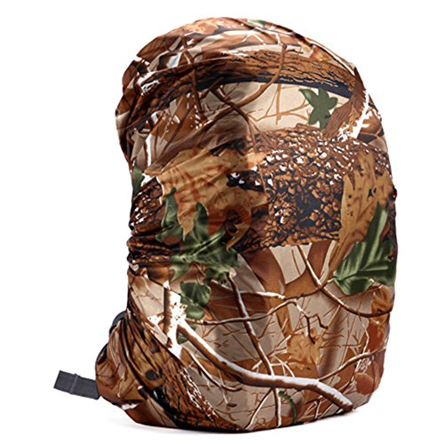 Zantec Sac à Dos Housse de Pluie réglable étanche à la poussière Portable ultraléger Sac à bandoulière Coque Housse de Pluie Protection pour Le Camping randonnée, Tree Camouflage