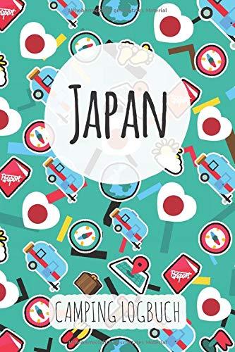 Japan Camping Logbuch: Reisetagebuch & Notizbuch für Camper