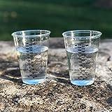 Einweg-Becher aus transparentem Kunststoff, 284 ml, zum Mischen von Farbe, Flecken, Epoxid, Harz und 20 Pixiss Stix Rührstäbchen, 100 Stück 50x 10-Ounce farblos - 8