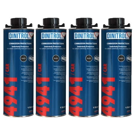 Rejel Dinitrol 4941 Unterbodenwachs 4 X 1 Liter Dosen Mit Schutz Schraubverschluss Schwarz Auto