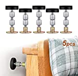 5 Sets Adjustable Bed Frame Anti-Shake Tool, Headboard Anti-Collision Fixer, Wall Bed Stoppers, Furniture Shaking Stabilizer for Bed, Cabinet, Sofa, Door (1.3-3.5in)