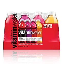 vitaminwater variety pack nutrient enhanced water w/ vitamins, 20 Fl. Oz, 12 Pack,