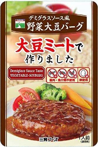 三育フーズ デミグラスソース風野菜大豆バーグ 100g×5個