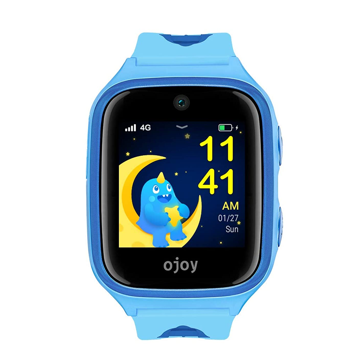 OJOY A1 Kids Smart Watch   IP68 Waterproof Smart Watch for Kids   4G LTE Watches for Boys and Girls   Safety Gizmo Watch for Kids   Kids GPS Tracker   with iOS & Android App (Blue) - US Warranty