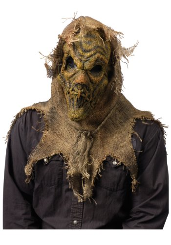 Scary Scarecrow Mask Standard Brown