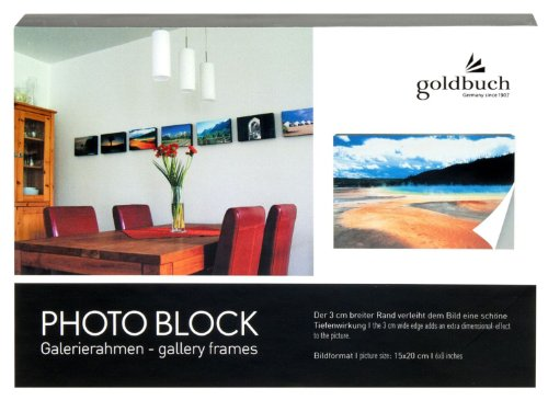 Goldbuch 900133 Fotoblock aus Holz, Bildformat 15 x 20 cm, grau