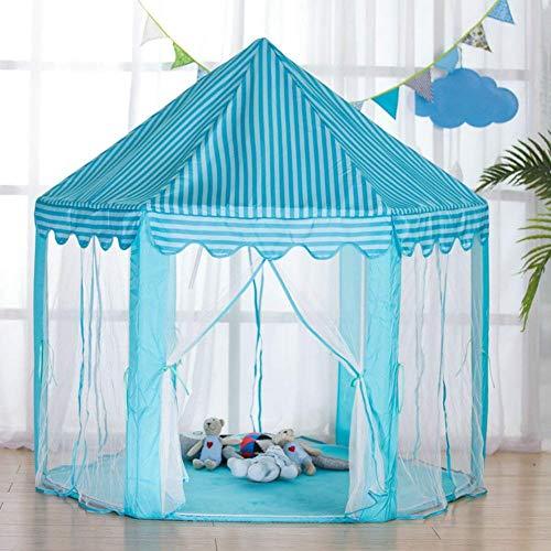 Casa de Juegos Plegable Pongee de poliéster, yurta Mongol Carpa para niños Interior y Exterior Carpa Hexagonal para niños Regalos Infantiles Plegables para niños niñas príncipe Princesas CAS