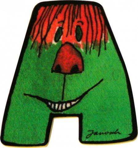 Janosch Holzbuchstabe A farblich sortiert