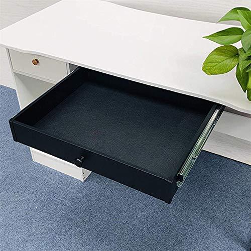 HYE-Table Cajón para Plataformas de computadora, cajón para Montaje en Escritorio Debajo de la Mesa con Deslizadores con cojinetes de Bolas, Mayor Comodidad y Espacio útil en el Escritorio, Negro
