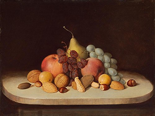 Das Museum Outlet–Robert Duncanson–Stillleben mit Obst und Nüsse–Poster Print Online kaufen (101,6x 127cm)