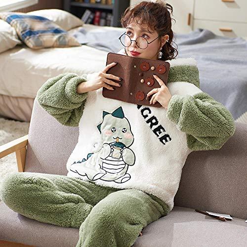 Sleepwear for Ladies, Women's winter plush thick hooded pajamas,-5479_L, Pajamas Set for Women Cotton