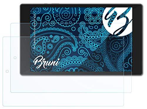 Bruni Schutzfolie kompatibel mit Trekstor SurfTab Breeze 9.6 Quad Folie, glasklare Bildschirmschutzfolie (2X)
